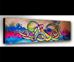 octopus art octopus print wall art octopus painting