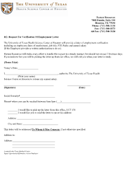 Sle Request Letter For Employment Certification Employment Verification Letter Template Forms Fillable