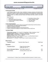system administrator resume sample good actor resume