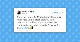 did melania copy obama s mlk day message
