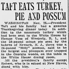 1909 happy thanksgiving enjoy your possum