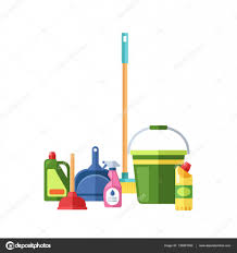 House Cleaning by House Cleaning Tools Vector U2014 Stock Vector Vectorshow 135891000