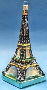 eiffel tower theme tree ornament