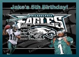 nfl philadelphia eagles birthday invitation kustom kreations