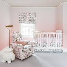 pink floral nursery glider design ideas