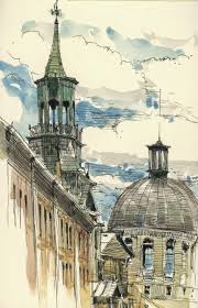 122 best pen and wash images on pinterest urban sketchers
