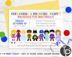 princess superhero save the date instant download princess