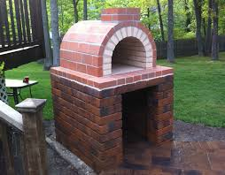 Backyard Pizza Oven Kit by Front View Of The Natalie Family Wood Fired Diy Brick Pizza Oven