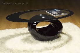 Glass Oval Coffee Table by Retro Designed Oval Coffee Table Black Ukcoffeetables Com