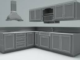 3d country kitchen cgtrader