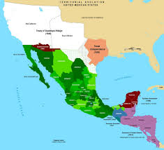 Us Mexico Border Map by Mexican Cession History Territory Mexican Cession Summary Us