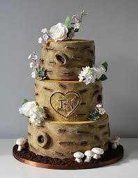 wedding cake makers 12 cakes shapes wood tree photo birch wood wedding cake tree