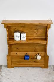 antique german kitchen wood wall board shelf for sale at pamono