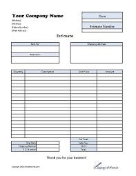doc 500700 free estimate templates u2013 job estimate template free