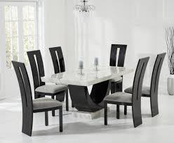 Black Pedestal Table Raphael 170cm Cream And Black Pedestal Marble Dining Table With