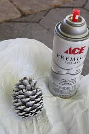 do it yourself divas diy snow pinecone ornament