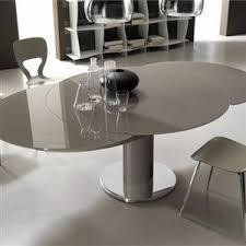 italian extendable dining table giro modern italian extending round table
