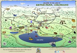 Estes Park Colorado Map by Local Herd