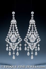 diamond chandelier earrings a magnificent early 20th century pair of diamond chandelier