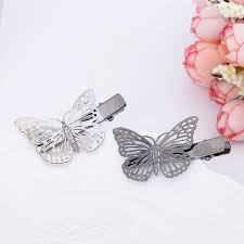 butterfly hair delicate metal butterfly hair twisted wire