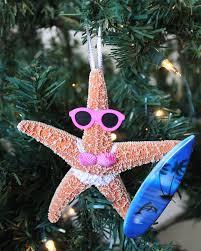 surfer white starfish ornament christmas ornaments handmade