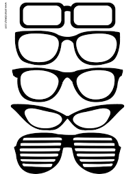 free printable photo booth props template glasses from grad 2015 printable photo booth prop set photo