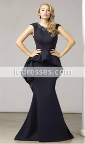 Dinner Dresses Robe De Soiree Arabic Black Evening Dresses Open Back