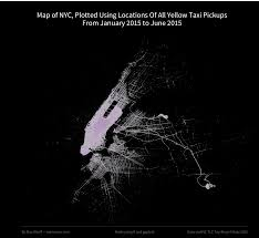 A Map Of New York City by Plotting A Map Of New York City Using Only Taxi Location Data