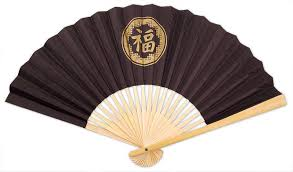 white paper fans personalised plain coloured paper fans