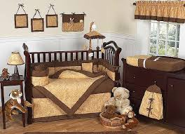 Crib Bed Combo A Chocolate Brown Combo Baby Bedding Set Will Create A Nursery