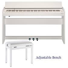 Key Bench New Roland Modern Compact Digital Piano F140r White 88 Weighted