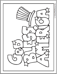 fourth of july coloring pages print and customize sunday