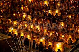 vigil lights catholic church votive candles in catholic church