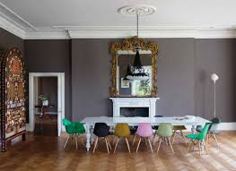 colorful seating for dining room retro interior design ideas with