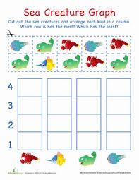 cut out graph sea creatures worksheet education com