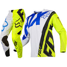 fox motocross gear combos fox racing 2017 mx new 360 creo white flo yellow jersey pants