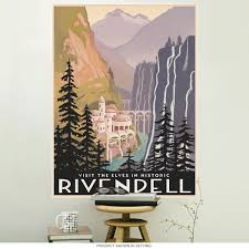unique decor for the mom woman cave retroplanet rivendell lord the rings lotr wall decal