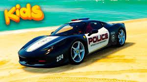 cartoon ferrari police cars ferrari spiderman funny cartoon nursery rhymes for