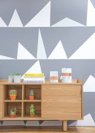 graphic wall paint the newest trend in interior painting ideas