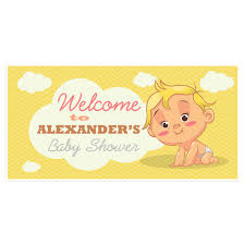 welcome to baby shower banner personalized party backdrop