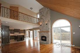 Vaulted Ceiling Open Floor Plans W2957 Modern Rustic Chalet 3 Bedrooms Large Terrace Mezzanine