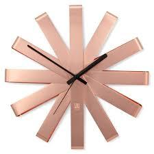 copper ribbon umbra ribbon wall clock copper candy