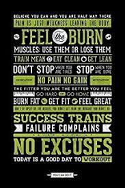 amazon com gym inspirational posters motivational fitness