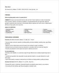 Sample Electrical Resume by Sample Electrician Resume 9 Examples In Word Pdf