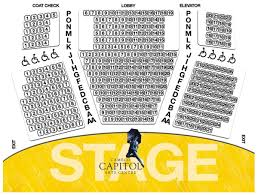 seating map cameco capitol arts centre capitol theatre seating map