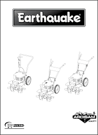 earthquake 3365 tiller user manual