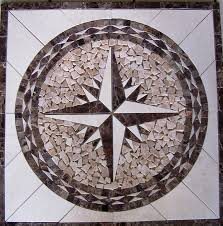 tile floor medallion marble mosaic design 24x24 amazon com