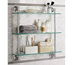 Bathroom Wall Mounted Shelves Enchanting Bathroom Wall Shelves Pottery Barn On Mounted