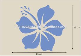 parede stencil hibisco flor stencils template 10 5