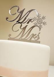 snowflake cake topper winter themed wedding snowflake mr mrs cake topper swarovski